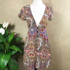 {Cleobella} Paisley Jonis Short Dress Size Small